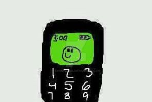 Happy Face old phone by chuchu3535