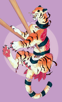 Tiger Set For One by jeanwoof