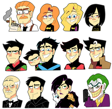Batman stickers by Feri-Marife