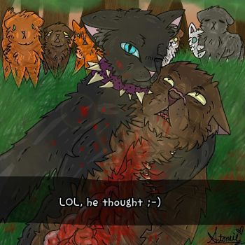 Scourge Sends a Snap to Bloodclan by StormFemaleWolf