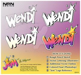 Wendi and The Goldnerds - Lettering by valaryc