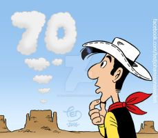 The 70th anniversary of Lucky Luke by TedJohansson