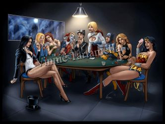 DC Girls Poker Night by VinRoc