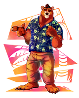 Hawaiin Bear by TJ-360