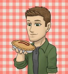 Supernatural - Dean and Pie by kelly42fox