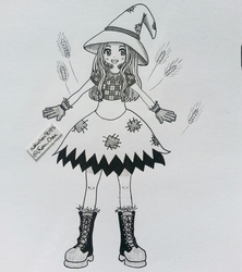 Inktober Day 05 - Scarecrow Witch by nakuchan9095