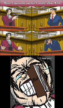 Miles Edgeworth and His Terrible Puns #19 by DarkMatter89