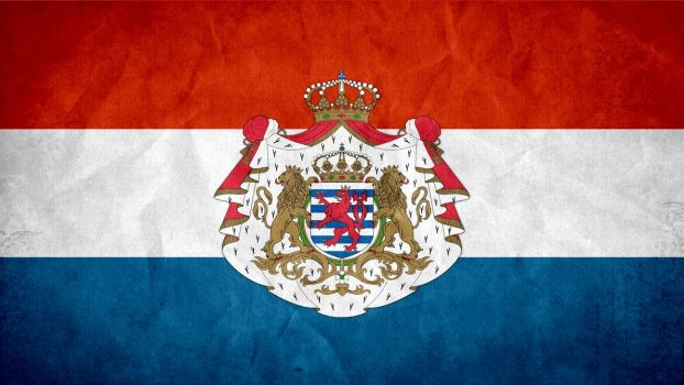 Luxembourg /w Coat of Arms Grunge Flag by SyNDiKaTa-NP