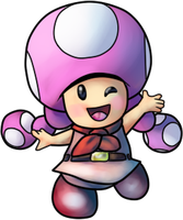 Toadette (Princess Daisy Scribble Scramble) by MisterYoshiandwatch