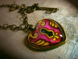 Atomic Artifacts - Pink Heart by Anna-Atomic