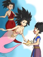 Caulifla and Kale Genies 2 (A Request) by TAC0919