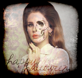 Happy Halloween with Lana Del Rey by niaapierce