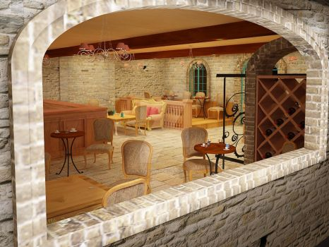 French Style coffee shop 01 by Linaerlight
