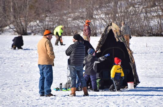 Ice Fishing and Community by mtsofan