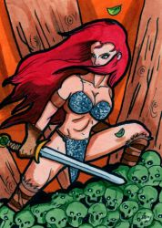 Red Sonja Sketch Card 2 by jonnyblur