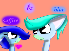 Saffire And Blue The Ponies by theshadowpony357