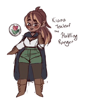 Kiana the Halfling by gigglingmouse