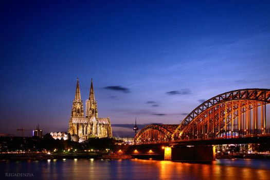 Cologne at Night by Regadenzia
