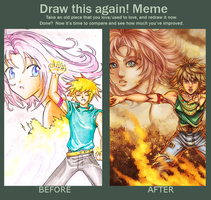 Before-After meme. by Magochocobo