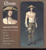 Character Design - Japanese Pirate by YeshuaNel