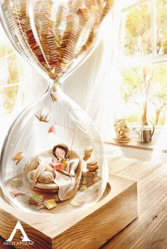 LOVE TO READ|Inside The Hourglass (PrintsForSale)