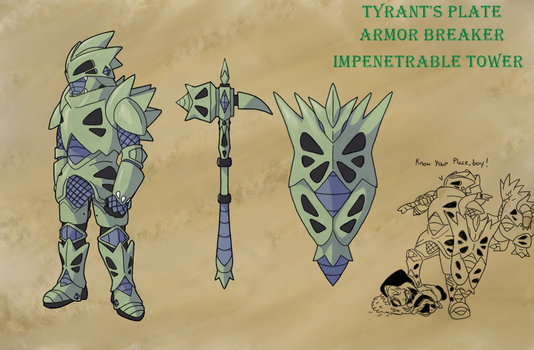 Hot off the Forge- Tyranitar by Lybra1022