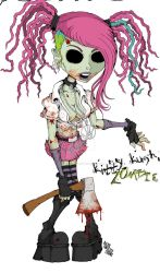 Kitty Kush Zombe-1 by BasilTwistedToons