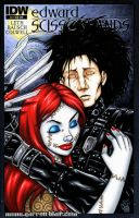 Edward Scissorhands + Sally sketch cover by gb2k