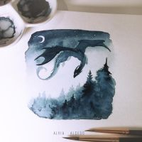 Above night forest by AlviaAlcedo