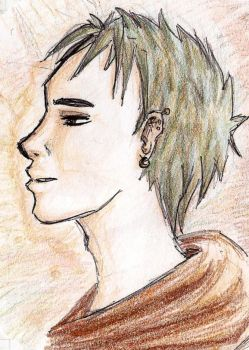 A boy with green hair by Sili-chan