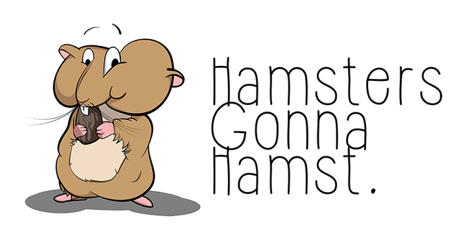 Hamsters gonna hamst - Illustration by tudy1311