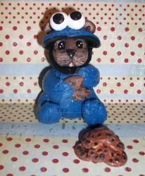 Cookie Monster Bear by spookyspinster