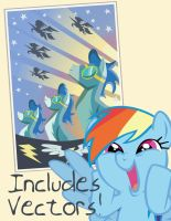 Wonderbolts Poster Vector by SN3AKYfox