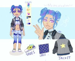 Blue Adopt Auction CLOSED (Paypal Only) by memeavatar