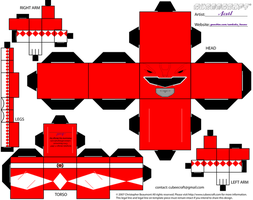 Red MMPR Cubee by Ameyal