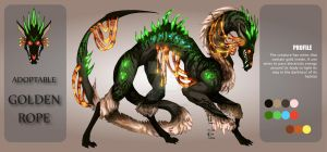 ADOPTABLE Close : GOLDENROPE [Auction][paypal] by SmileykittyAdopt
