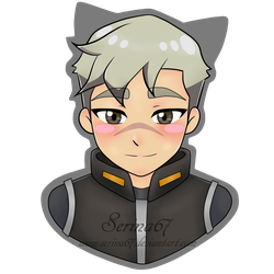 Shiro Chibi Sticker by Serina67
