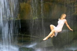 Vivienne at Waterfall by Ozphotoguy