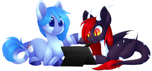 Drawing with a Friend [C] by Scarlet-Spectrum