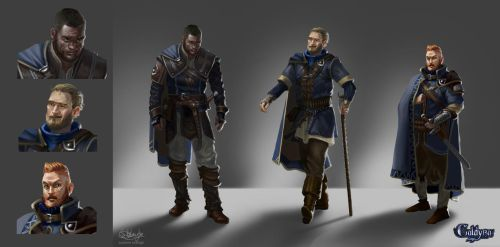 Character concept Caldyra: City safety agents. by Suzanne-Helmigh
