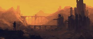 post apocalyptic scenery by Pericolos0