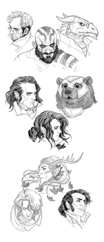 Critical Role: Sketchdump II by coupleofkooks