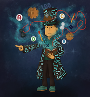 Professor Layton- Master of puzzles by Caro-Chipher