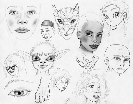 FaceSketches180213 by TheMightyGorga