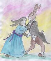 Waltzing Bunnies by Louvan
