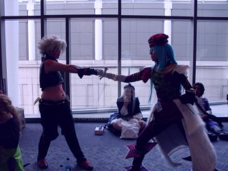 SakCon09: Haseo and Endrance (.hack//G.U.) by PaperRoxas