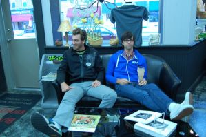 Rhett and Link at Butt Drugs by aaron-tuell