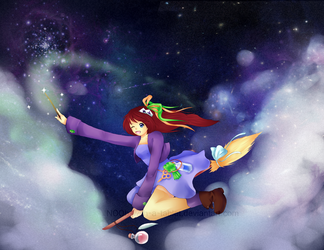 Universe Witch by N00b-with-a-tablet