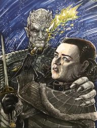 Arya Vs. The Night King by olybear
