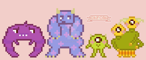 Monsters Uni Pixels by chromiart